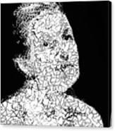 Portrait Of Margot  Canvas Print