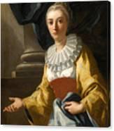 Portrait Of Maria Cavalcanti Ametrano Duchess Of San Donato Canvas Print