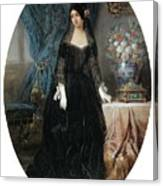 Portrait Of Marie Duplessis Canvas Print