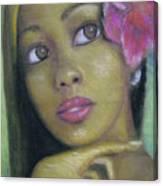 Portrait Of Monica Canvas Print