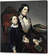 Portrait Of Mother And Son Canvas Print