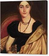 Portrait Of Mrs Devauay Canvas Print