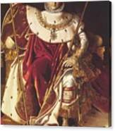 Portrait Of Napolan On The Imperial Throne 1806 Canvas Print