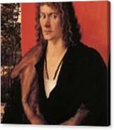 Portrait Of Oswolt Krel 1499 Canvas Print
