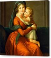 Portrait Of Princess Alexandra Golitsyna And Her Son Piotr Canvas Print