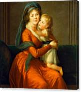 Portrait Of Princess Alexandra Golitsyna And Her Son Piotr Canvas Print