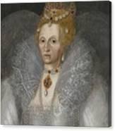 Portrait Of Queen Elizabeth Canvas Print