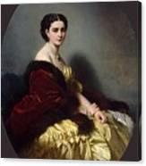 Portrait Of Sophia Petrovna Naryshkina Franz Xavier Winterhalter Canvas Print