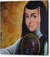 Portrait Of Sor Juana Ines De La Cruz Canvas Print