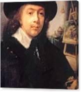 Portrait Of The Artist In His Studio Canvas Print