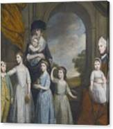 Portrait Of The Children Of William Canvas Print