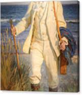 Portrait Of The Danish Painter Peder Severin Kroyer Canvas Print