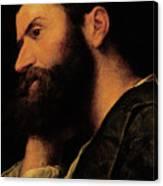 Portrait Of The Poet Pietro Aretino Canvas Print