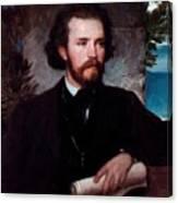 Portrait Of The Singer Karl Wallenreiter Canvas Print