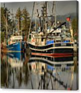 Portrait Of The Ucluelet Trawlers Canvas Print