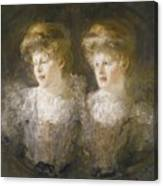 Portrait Of Two Ladies Canvas Print