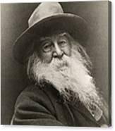 Portrait Of Walt Whitman Canvas Print