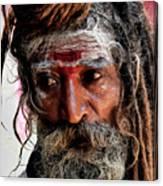 Portrait On The Ganges Canvas Print