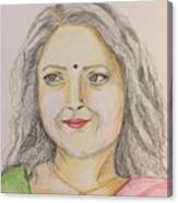 Portrait With Colorpencils 2 Canvas Print