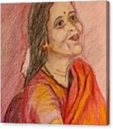 Portrait With Colorpencils Canvas Print