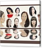 Portraits Of Lovely Asian Women  Canvas Print