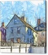 Portsmouth New Hampshire Pencil Canvas Print
