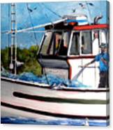 Portuguese Fishing Boat Canvas Print
