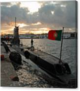 Portuguese Navy Submarine Canvas Print