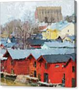 Porvoo Town Canvas Print