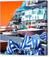 Positano Beach Pop Art Canvas Print