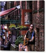 Post Alley Musician Canvas Print