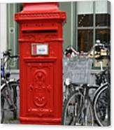 Post Box In Bruge Canvas Print