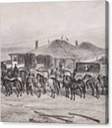 Post Horses Canvas Print