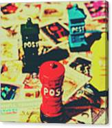 Postage Pop Art Canvas Print