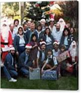 Postal Santas Canvas Print