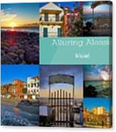 Postcard From Alassio Canvas Print