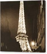 Postcard From Paris- Art By Linda Woods Canvas Print
