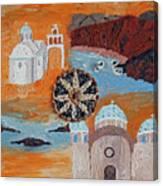 Postcard From Santorini Canvas Print