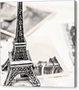 Postcards And Letters From Paris Canvas Print