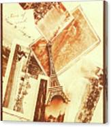 Postcards And Letters From The City Of Love Canvas Print