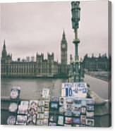 Postcards From Westminster Canvas Print