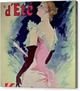 Poster Advertising Alcazar Dete Starring Kanjarowa  Canvas Print