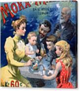 Poster Advertising Moka Maltine Coffee Canvas Print