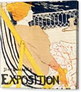 Poster Advertising The Exposition Internationale Daffiches Paris Canvas Print