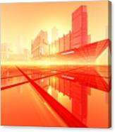 Poster-city 1 Canvas Print