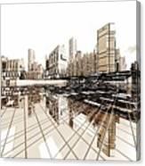 Poster-city 4 Canvas Print