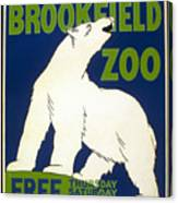 Poster For The Brookfield Zoo Canvas Print