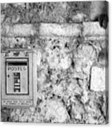 Postes In Black And White Canvas Print