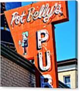 Pot Belly's Pub Sign Canvas Print