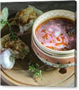 Pot Of Ukrainian Borsch Canvas Print
